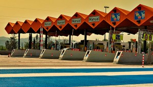 A toll station in Spain. With PPP's increasing in the country, the privatisation of some roads has seen vast improvements to the country's infrastructure