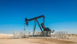 oil industry well pump in desert