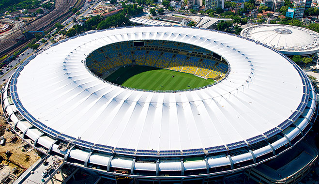 The Mario Filho (Maracana) stadium in Rio de Janeiro. It will host the upcoming Confederations Cup, the 2014 World Cup and the 2016 Summer Olympics