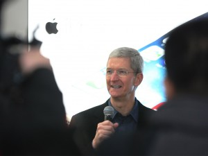 """Tim Cook has spoken positively of Apple's plans to buy back an additional $30bn worth of stock from shareholders, saying """"We've confident in Apple's future and see tremendous value in Apple's stock"""""""