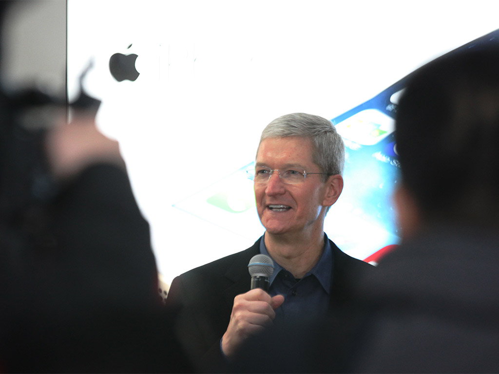 "Tim Cook has spoken positively of Apple's plans to buy back an additional $30bn worth of stock from shareholders, saying ""We've confident in Apple's future and see tremendous value in Apple's stock"""