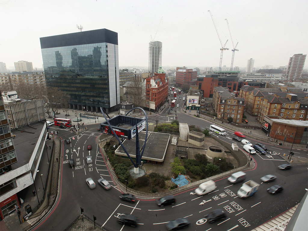 The Silicon Roundabout in Old Street: some have argued that the tech hub is no more than a marketing exercise to promote London business, with numerous entrepreneurial flops to prove it