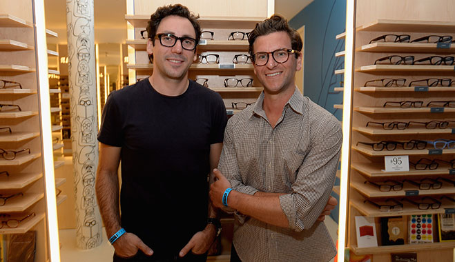 Warby Parker co-founders Neil Blumenthal and Dave Gilboa