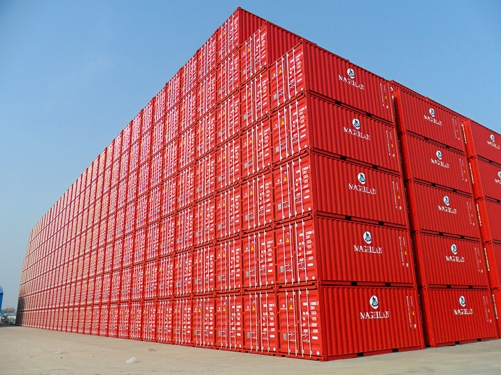 A stack of Magellan containers waiting to be transported. The company has seen a substantial rise in container investment as more and more people recognise them as a solid and financially rewarding way to grow money