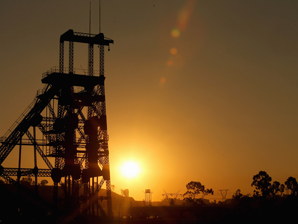A derelict gold mine is seen in Johannesburg, South Africa. Abandoned mines are used today to set up further extraction in a sustainable manner