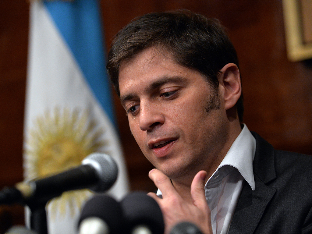 Stressful times: Argentina's Economy Minister Axel Kicillof said at a press conference that bondholders - led by NML Capital - had rejected a $539m interest payment deal designed to save the country from economic disaster