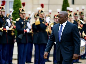 Democratic Republic of Congo President Joseph Kabila arrives at the Élysée Palace in Paris. The President has been striving for greater economic prosperity in the country