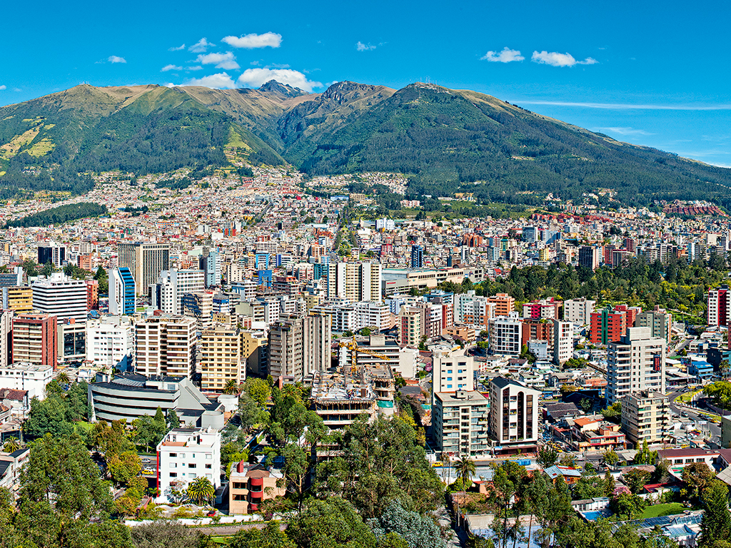 A general view of Quito, Ecuador, where political contention has led to greater investment opportunities. Photo courtesy of Gonzalo Villot