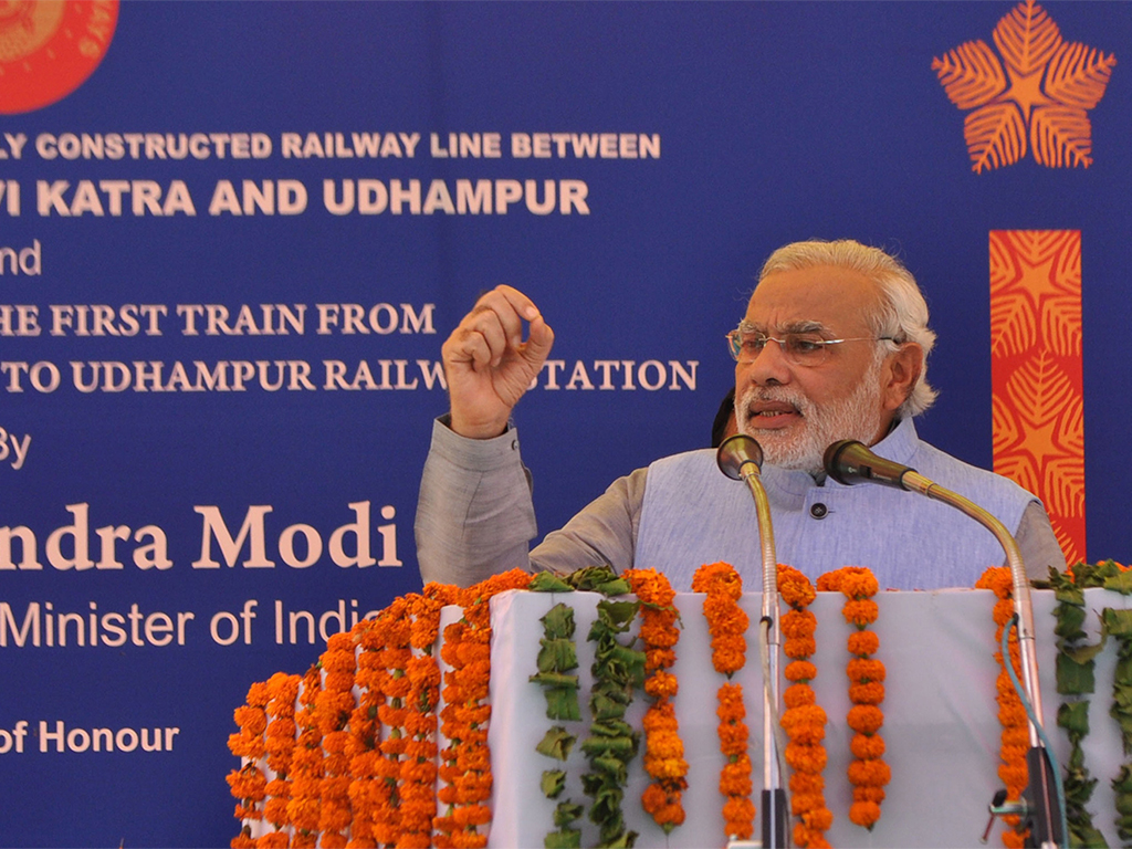 A revolutionary: Prime Minister Narendra Modi is keen to improve India's economic standing through infrastructure. He is seeking as much as $1trn to spend on the country's road, rail and cities