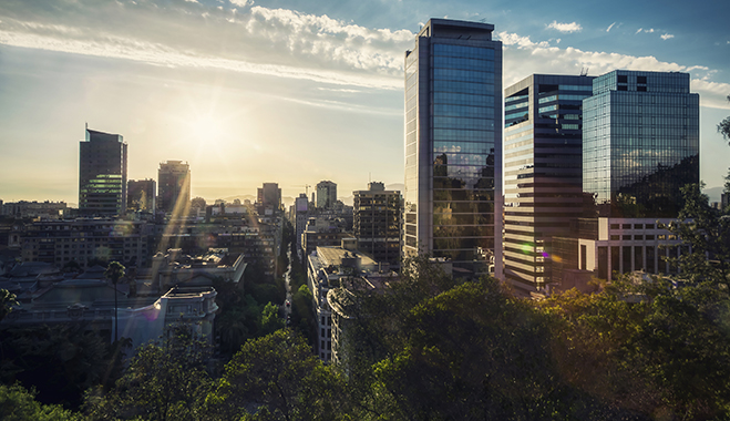 The financial centre in Santiago, where Bci's headquarters are. The country's economic growth has not remained unnoticed by investors, as it became the top ranking Latin American country in the World Economic Forum's Global Competitiveness Index 2013-2014