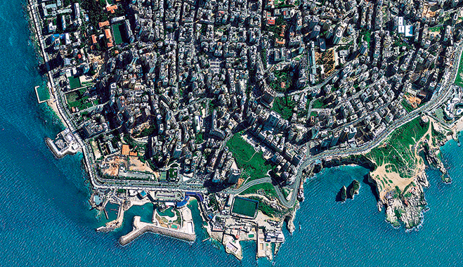 Beirut, the economic centre of Lebanon. SMEs make up a significant portion of the country's economy