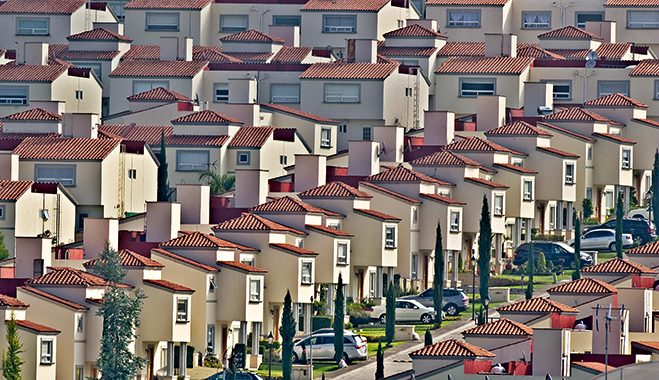 Houses constructed in Atizapan municipality, Mexico. The country's housing sector has undergone a major transformation