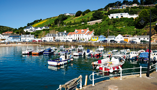 Rozel harbour, Jersey. The British Crown dependency is coping well with tax regulation