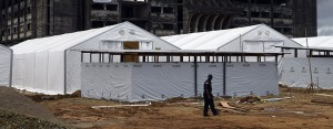An Ebola treatment camp in Monrovia, Liberia. Some argue that the fear brought about by Ebola, rather than the virus itself, will have more devastating results for Africa's people as investors limit their involvement in the country