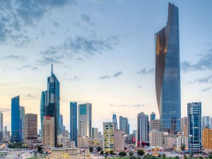Central business district, Kuwait City, where International Turnkey Systems (ITS) is based.