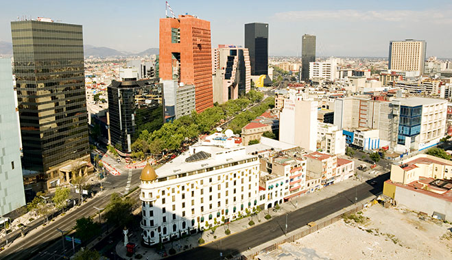 Mexico City's financial district