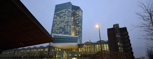 The European Central Bank headquarters in Germany. The bank is under increasing pressure to introduce a quantitative easing-like programme in wake of the news the Eurozone has entered into deflation