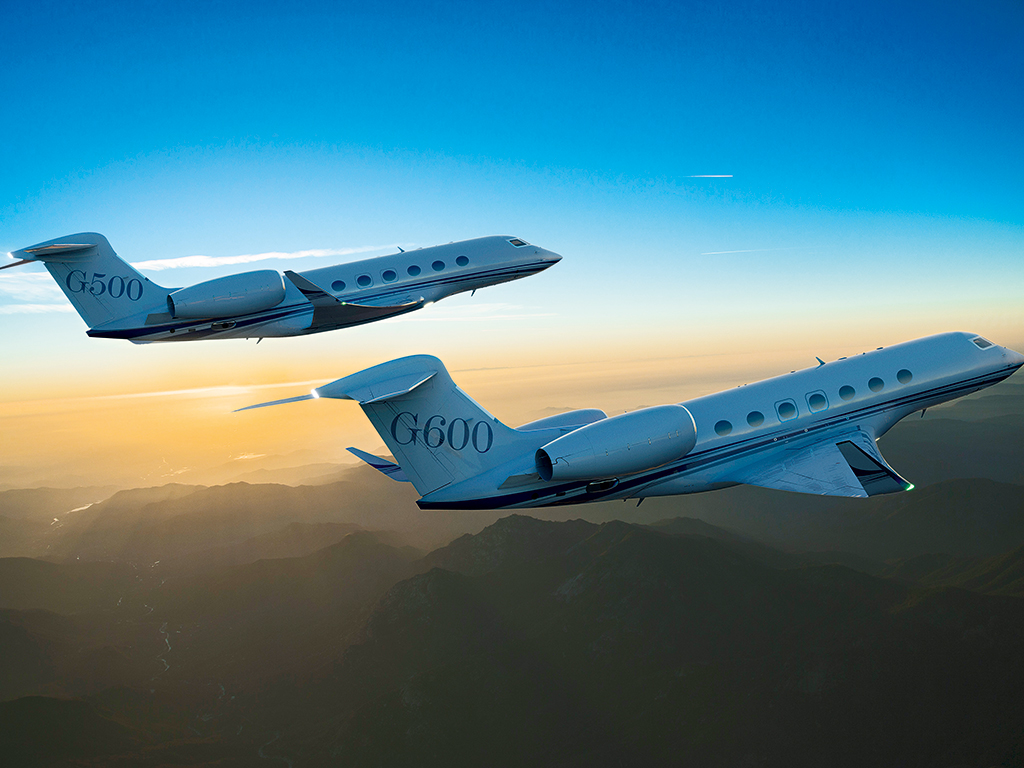 Gulstream Aerospace recently revealed an all-new aircraft family, including the Gulfstream G500 and G600 (above), at its headquarters in Savannah, Georgia