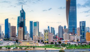 A view of the city skyline and central business district of Kuwait City, Kuwait. KIB has risen to become one of the most successful institutions in the country