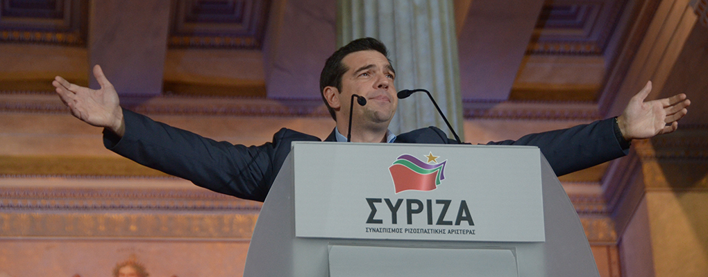 Syriza's charismatic leader Alexis Tsipras celebrates his party's victory in the Greek elections yesterday. There is an increasing chance that Syriza will soon leave the Eurozone