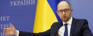 Ukraine's Prime Minister Arseniy Yatsenyuk at a recent event. The leader faces a tough time in getting the country's economy back on track after its ongoing conflict with Russia