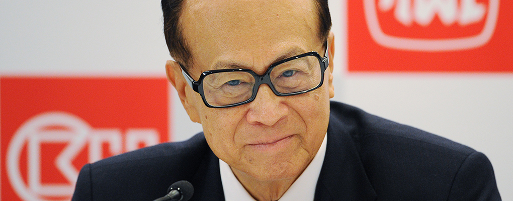 Something to smile about: Li Ka-shing, Chairman of Cheung Kong Holdings, is the richest man in Asia with a wealth of $32bn. The leader has recently announced plans to buy Telefonica's O2 enterprise