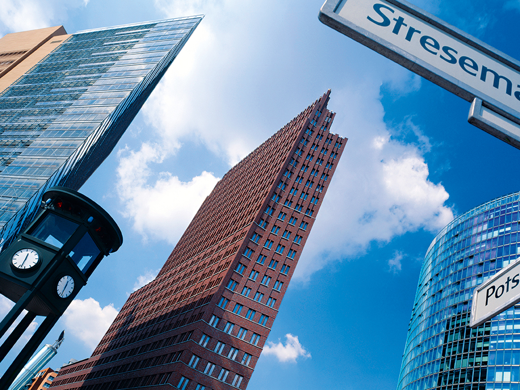 Skyscrapers in Berlin. Patrizia offers real estate investors in Germany a 'toolkit' to suit their requirements