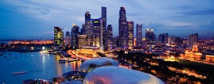 A Singapore skyline. The island country, which is part of the ASEAN region, has become the preferred base for 80 percent of multi-regional companies due to its open markets and international finance hub