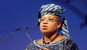 "Nigeria's Finance Minister Dr Ngozi Okonjo-Iweala. She has urged Nigerians to start thinking of Nigeria as a ""non-oil"" country"