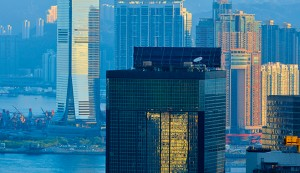 The 118-story International Commerce Centre building in Kowloon Hong Kong, China. The city has some of the priciest properties in the world