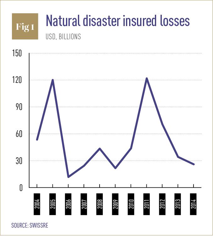 Natural disaster insured losses