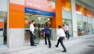 A Prima AFP branch in Lima, Peru. The company believes that unifying the country's pensions systems will allow it to fulfil its potential