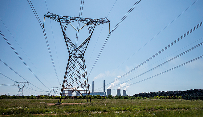 Eskom's Duvha Power Station, South Africa. Energy shortage in the region has handicapped retail and tourism industries, as well as SMEs