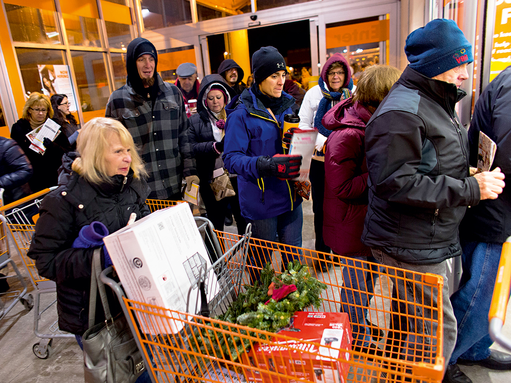 Black Friday shoppers at Walmart-rival  Home Depot