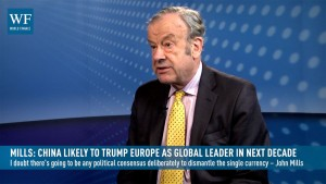 Mills: China likely to trump Europe as global leader in next decade