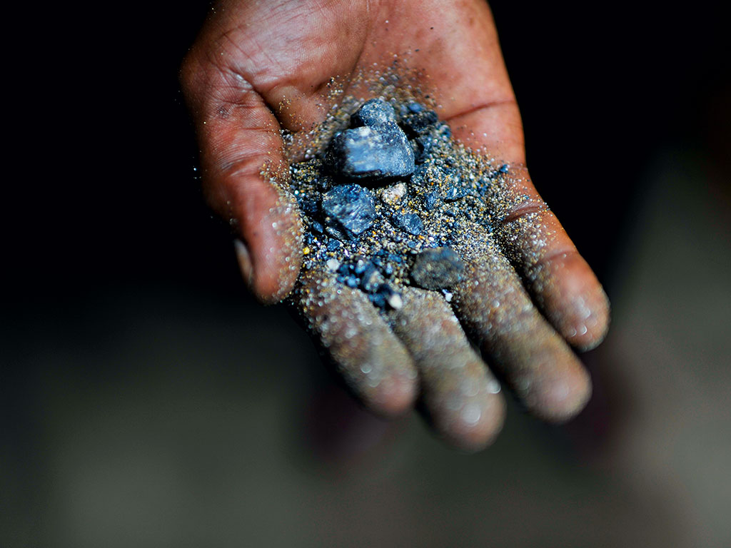 Coltan from the rich deposits of Masisia territory in North Kivu, DRC