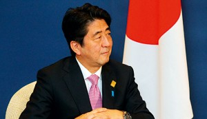 Japanese Prime Minister Shinzo Abe, whose government is determined to improve the country's less than desirable image
