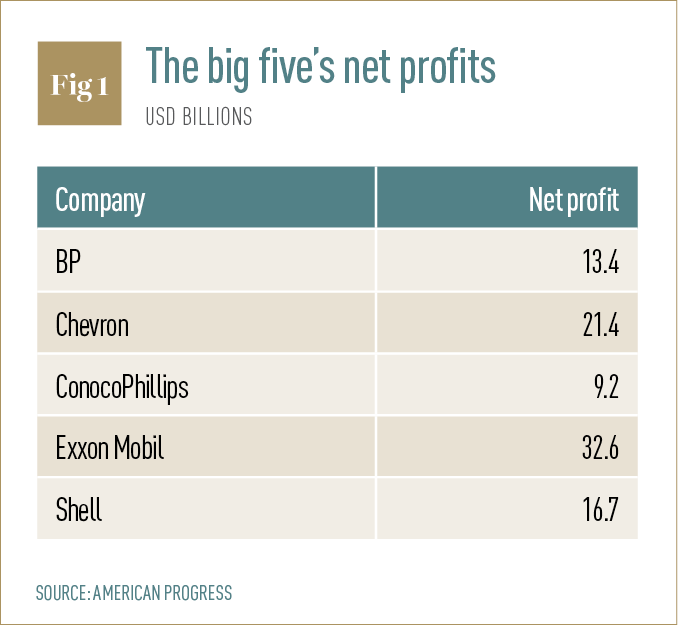 The big five's net profits