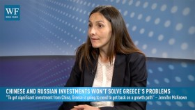 Senior European Economist Jennifer McKeown says that Greek infrastructure sales to Russia and China will undermine his efforts to get the public on side in a referendum for a third bailout