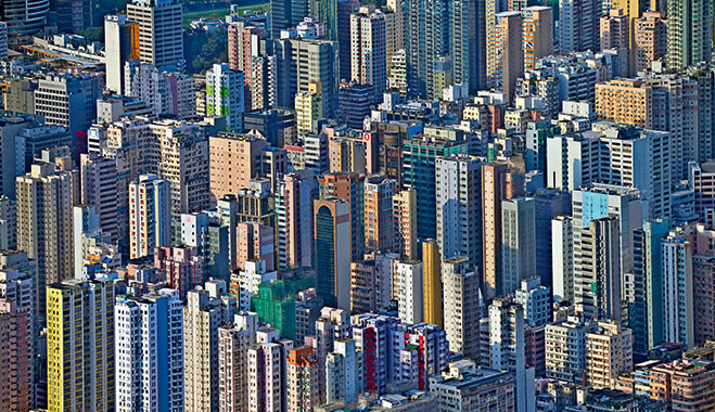 Hong Kong, China. The region has been plagued with allegations of corruption as to how its property market is run