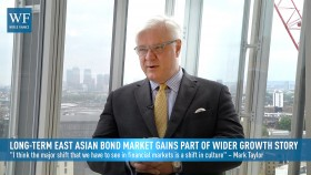 Former BlackRock asset manager Mark Taylor says investors will diversify their portfolios into east Asian bond market holdings in light of US and European easing programmes