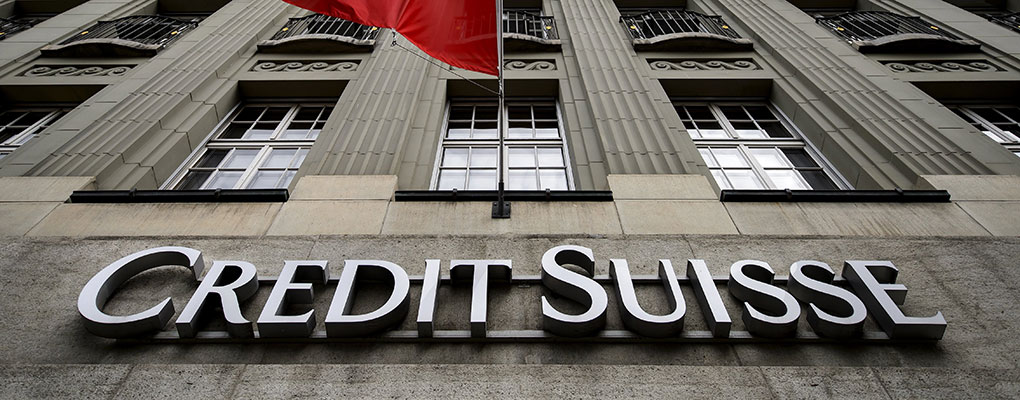 Credit Suisse's Swiss offices. A recent survey by the bank suggests that SME export sentiment in Switzerland in Q3 2015 hit a record low as a result of the strong franc