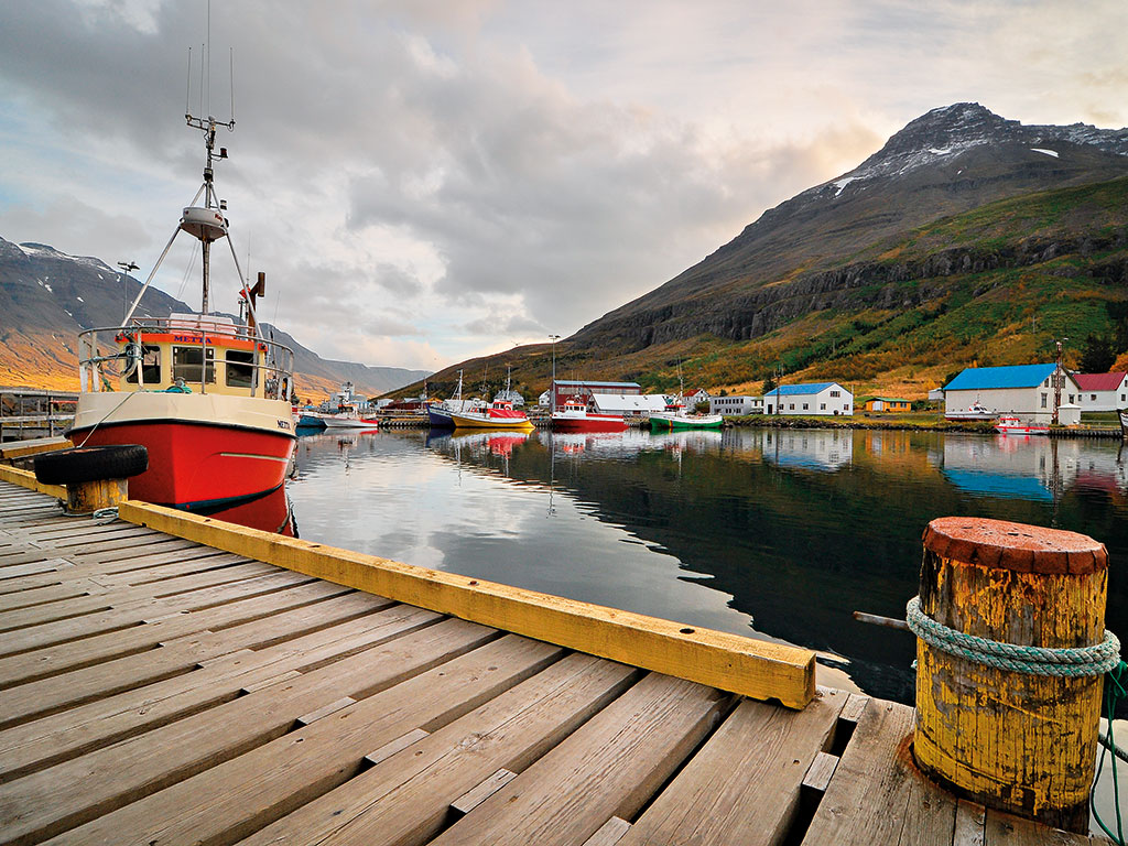 Fishing boats, Seydisfjordur Harbour. Fish and fishery products remain Iceland's most profitable exports