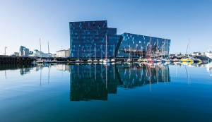 Harpa concert hall, Reykjavik. Funded by Landsbanki pre-crisis, the building looms as a reminder of the reckless behaviour of the country's banks