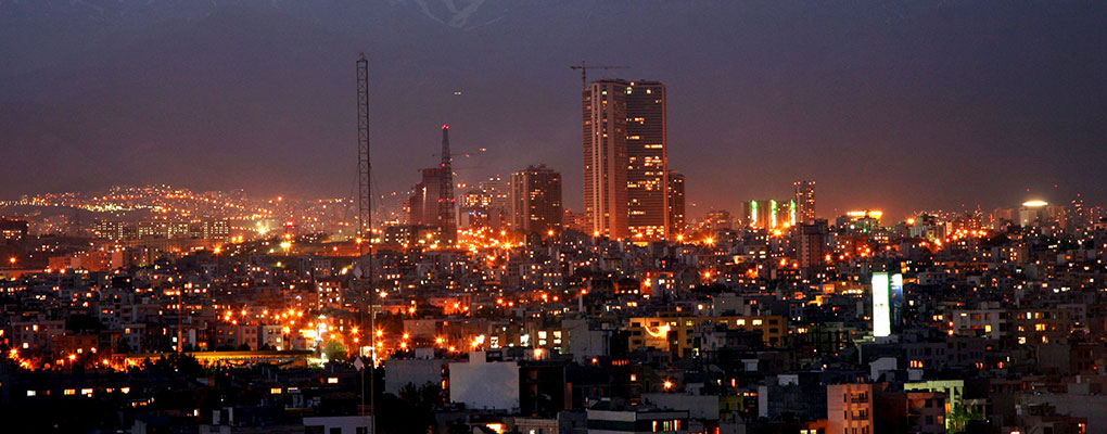 Iran at night. The country has decided to issue $300m sharia-compliant bonds on the Fara Bourse