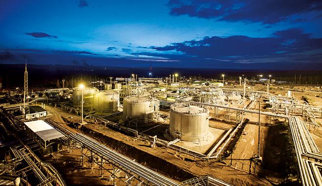 Irkutsk Oil's main oil and gas condensate development, Irkutsk, East Siberia
