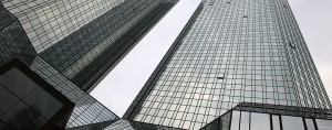 Deutsche Bank headquarters. The institution is one of the largest foreign banks in the US report markets