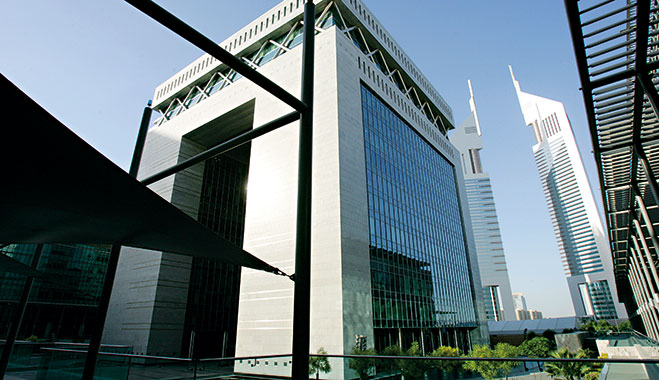 Dubai International Financial Centre in the UAE, home to 21 of the world's top 25 banks