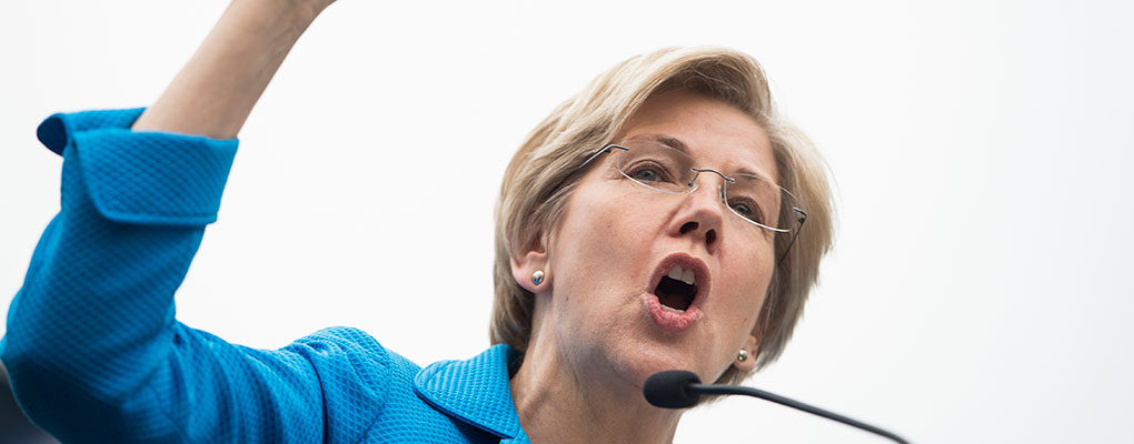 Democratic Senator Elizabeth Warren, who has sent a letter to financial regulators warning that US banks are exposing themselves to risking derivative swap trades