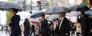 Pedestrians in Tokyo. The Japanese economy has slept into its fourth recession since the financial crisis